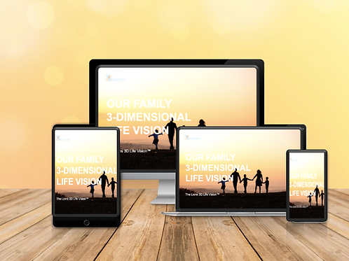 3D Life Vision Template - For Families - $3USD