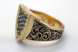 Gold Ring By Naveya and Sloane