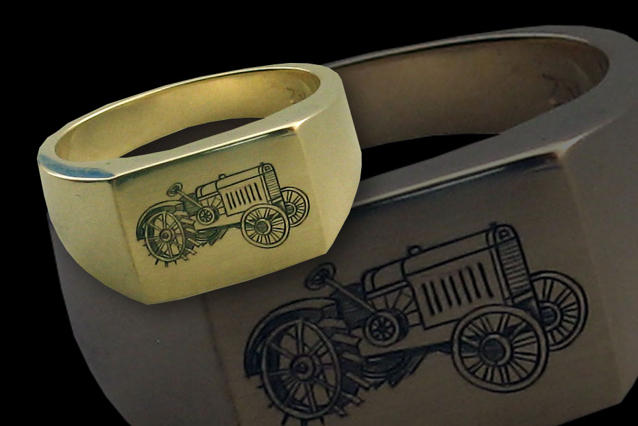 Tractor Gold Ring