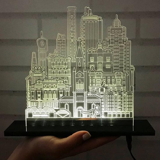 Luminária Ribeirão Preto Skyline por Matheus Guariz Homem