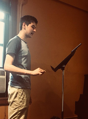 Rehearsal with Ellis