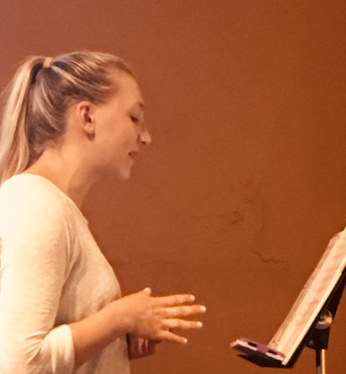 Rehearsal with Meghan