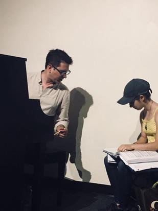 Sierra and Matt in Rehearsal