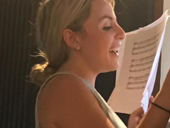 Rehearsal with Samantha