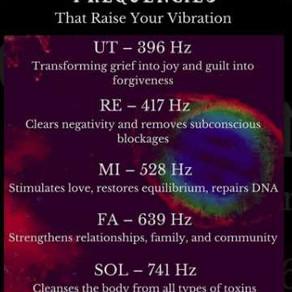 Solfeggio Hertz Frequencies Codes of AH©