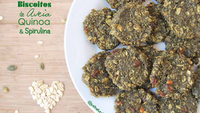 Biscoitos de Aveia, Quinoa e Spirulina