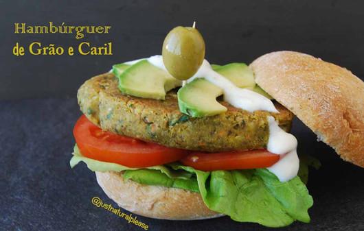 Hambúrguer de Grão e Caril