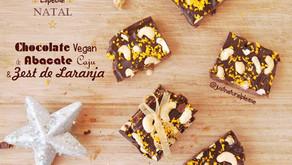 Chocolate Vegan de Abacate, Caju e Laranja