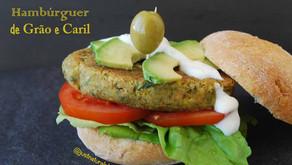 Hambúrguer de Caril e Grão