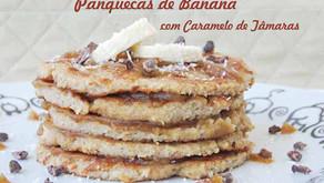Panquecas de Banana com Caramelo de Tâmaras