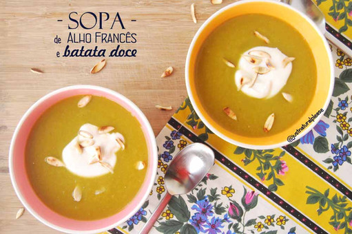 Sopa de Alho Francês e Batata Doce