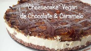 Cheesecake Vegan de Chocolate e Caramelo