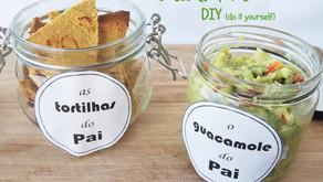 Tortilhas de Grão e Guacamole para oferecer (Especial Dia do Pai)