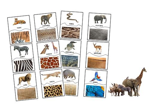 Puzzle Imprimível Padrões dos Animais
