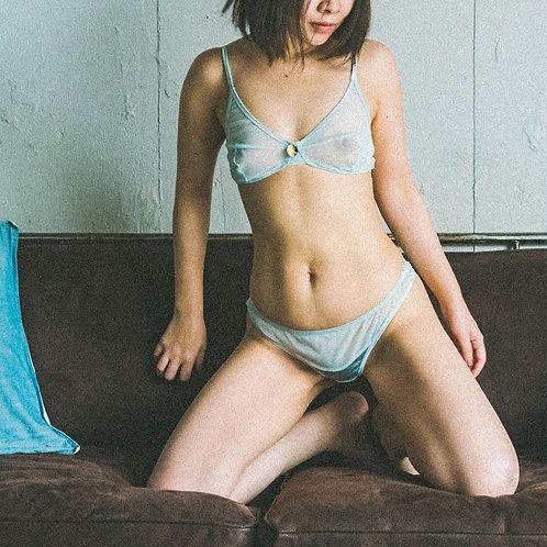 color drop - Bra&Shorts Set  (mint blue)