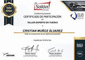 Certificado Taller Experto en Tijeras