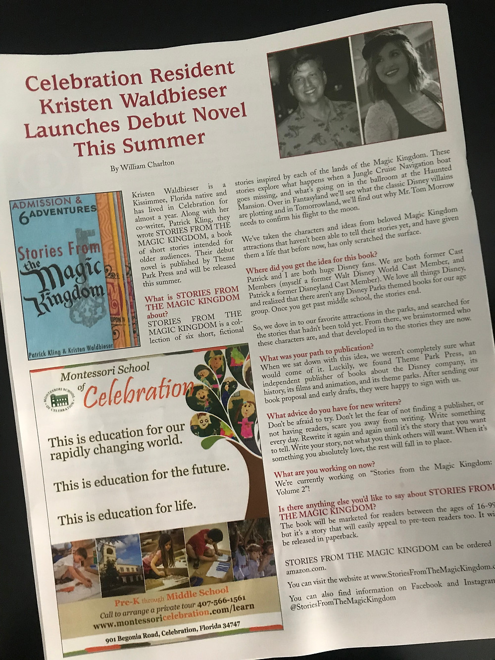 Stories from the Magic Kingdom in Celebration Life Magazine