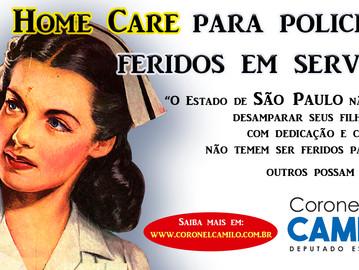 Coronel Camilo propõeHome Carepara policiais feridos em serviço