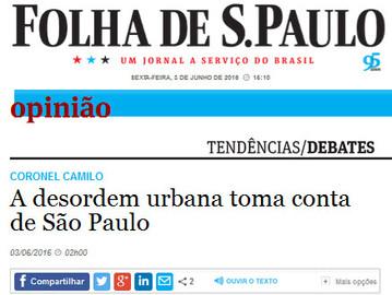 Artigo: A desordem urbana toma conta de São Paulo