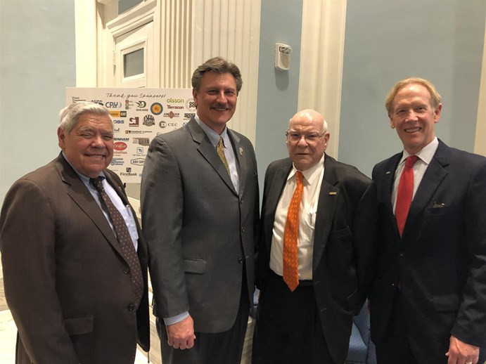 Former Secretaries of Transportation Neal McCaleb, Gary Ridley and Mike Patterson with current Secretary Tim Gatz at TRUST Transportation Day at the Capitol.
