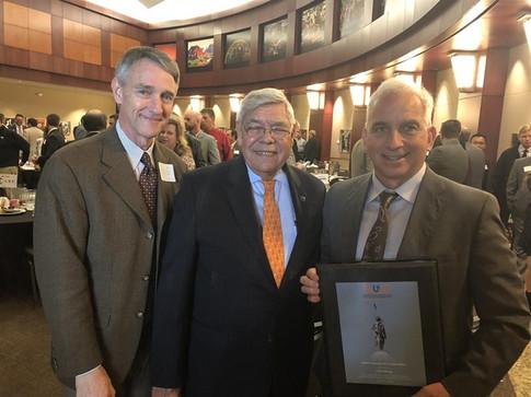 TRUST Guardian of Transportation recipient Chris Benge with TRUST president Neal McCaleb and TRUST board member Ken Wert.