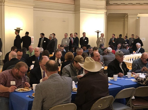 Legislators, TRUST members and transportation advocates filled the 2nd floor state Capitol rotunda for the annual Transportation Day luncheon.
