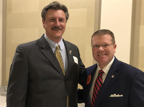 Secretary of Transportation Tim Gatz and House Majority Leader Mike Sanders at TRUST Transportation Day at the Capitol.