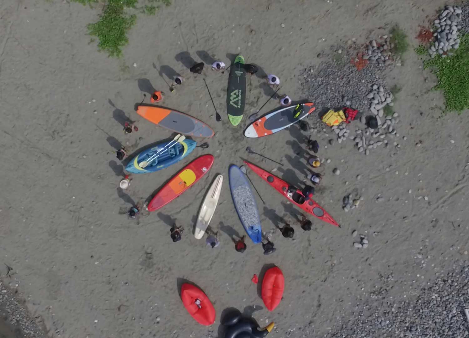 trip-team building-stand up paddle indon