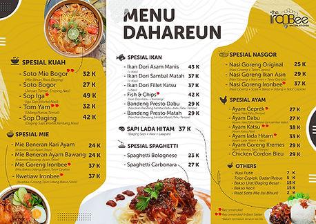 menu the ironbee makanan.jpg