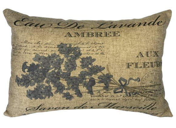 Lavender Handcrafted Linen Pillow