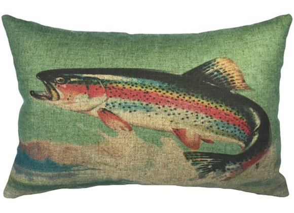 Catch Of the Day Linen Handcrafted Linen Pillow
