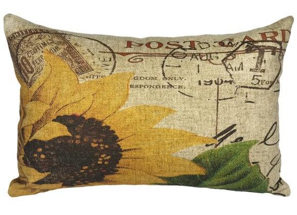 Sunflower Handcrafted Linen Pillow