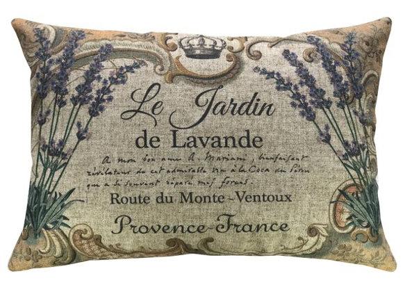 Le Jardin de Lavande Handcrafted Linen Pillow