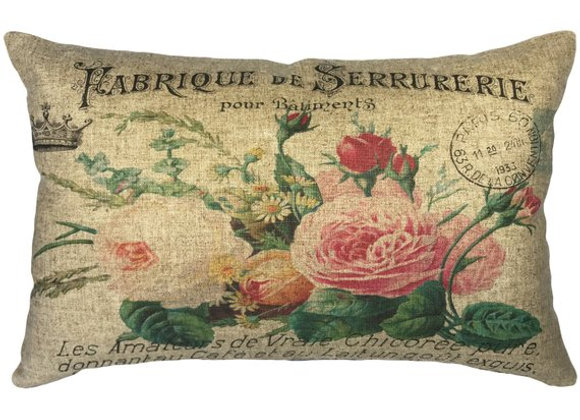 Floral Fabrique Handcrafted Linen Pillow