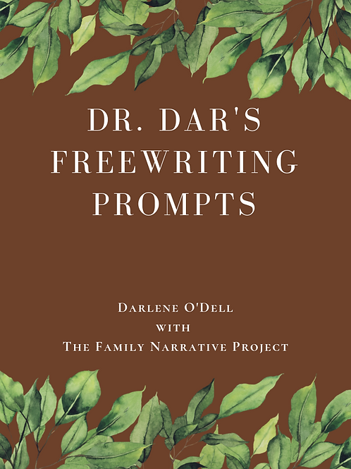 Volume 1: PDF version of Dr. Dar's Freewriting Prompts