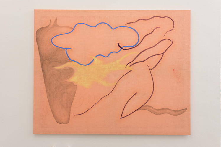 Merve Iseri, as a chance meeting between a cloud and a rubber stamp on a cusp of land, Install, 2019