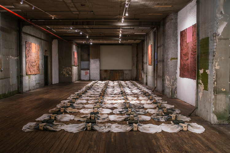 Carmen Argote, Exprimidos Install, 2018