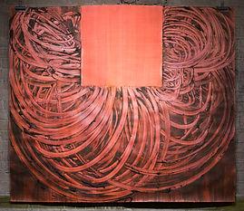 Carmen Argote, Red Curve, 2018, cochinea