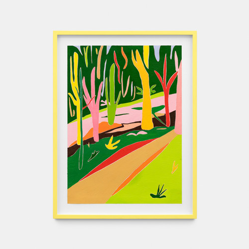 Tessa Perutz, Multi-Colored French Forest in Shadow, 2020