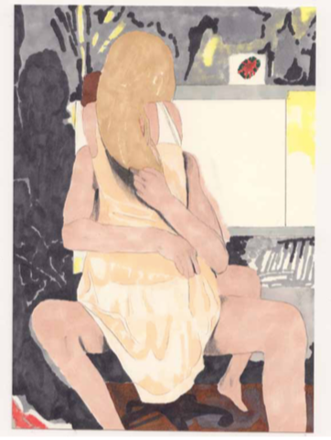 Marie Jacotey, Sitting Down, 2018