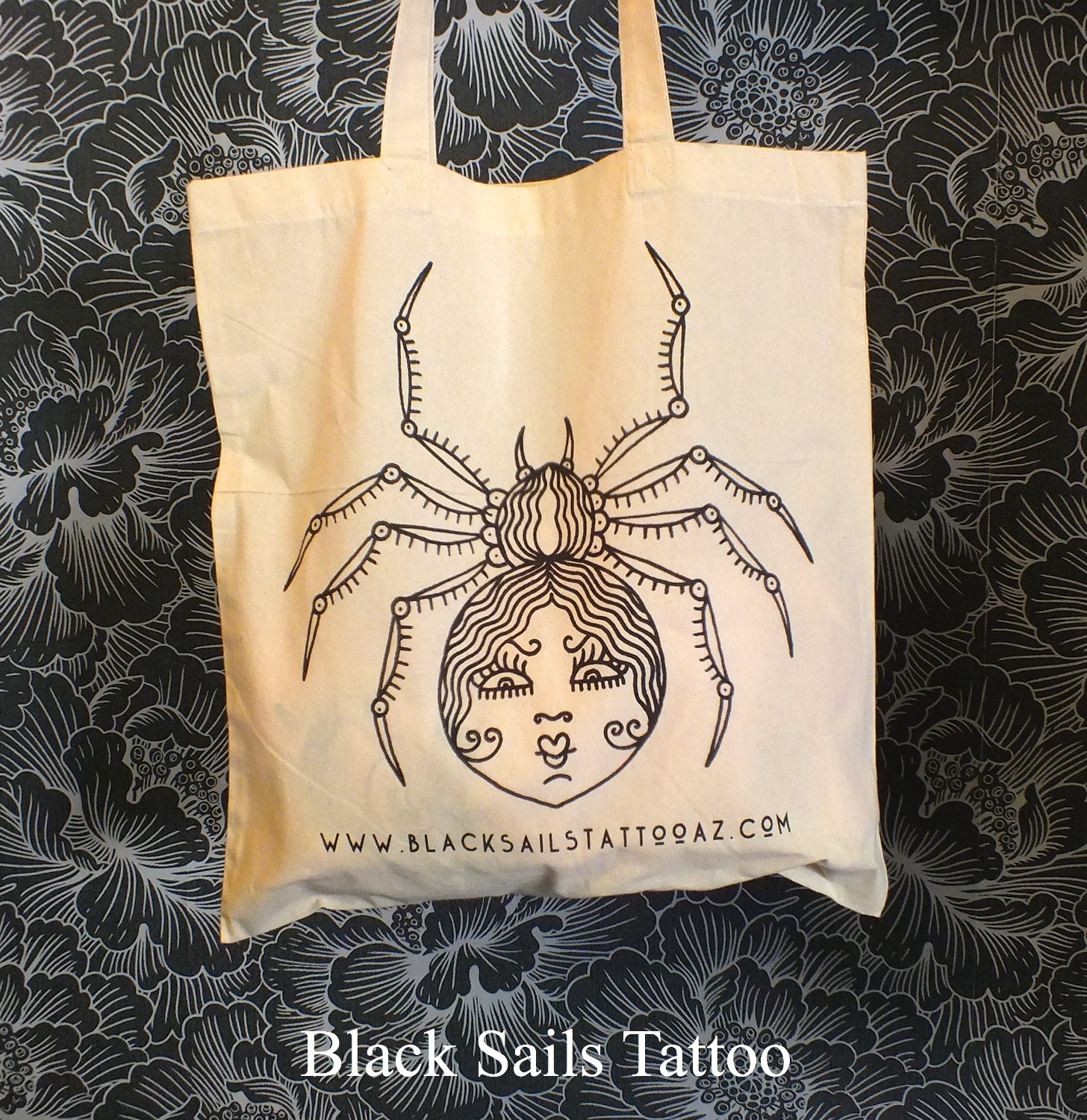 Lolo Spider Tote Bag (front)