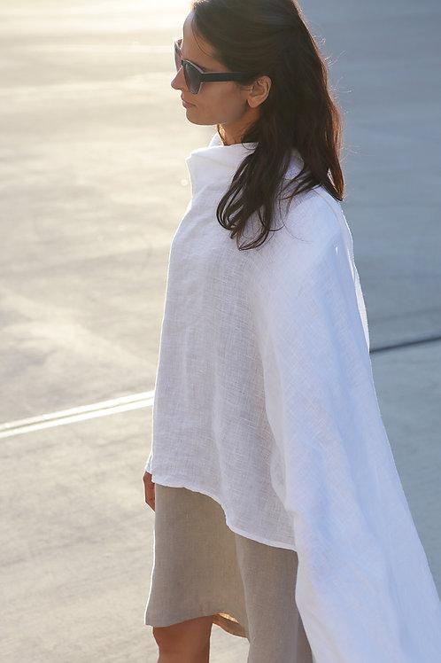 "úvodnice VZ-DUCH /pléd/   linen shawl ""AIR"""
