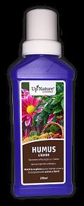 HUMUS LÍQUIDO Humus Líquido da Upnature é uma solução orgânica líquida concentrada de extratos vegetais, que constituí a forma mais rápida e cómoda de aplicação de matéria orgânica ao solo, onde se desenvolva qualquer tipo de planta ou plantação.
