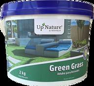 GREEN GRASS O adubo ecológico granulado orgânico para relvados da Upnature é de longa duração, assegurando uma coloração verde escura ao relvado e sem cortes suplementares