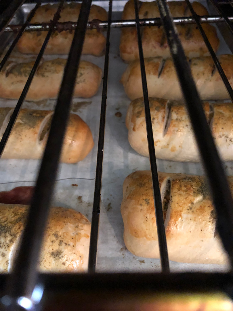 baking pepperoni rolls