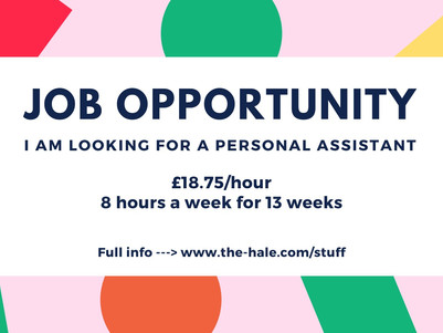 Job: I'm looking for a personal assistant