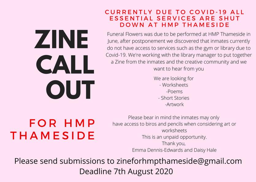Zine for HMP Thameside