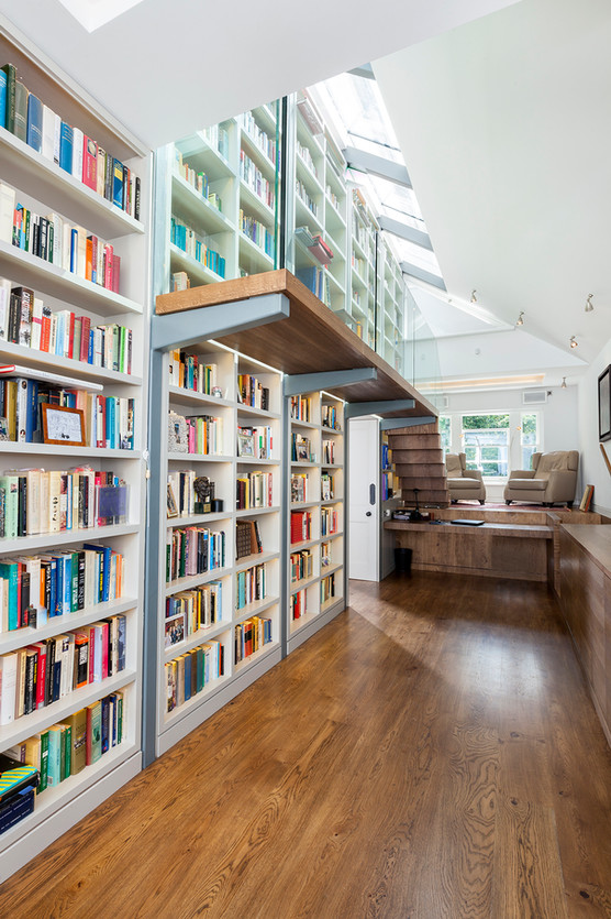 Cantilevered Bookcase Stair