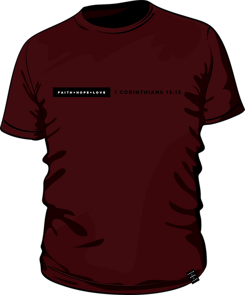 1 Corinthians 13:13 - Men's T-shirt - Burgundy