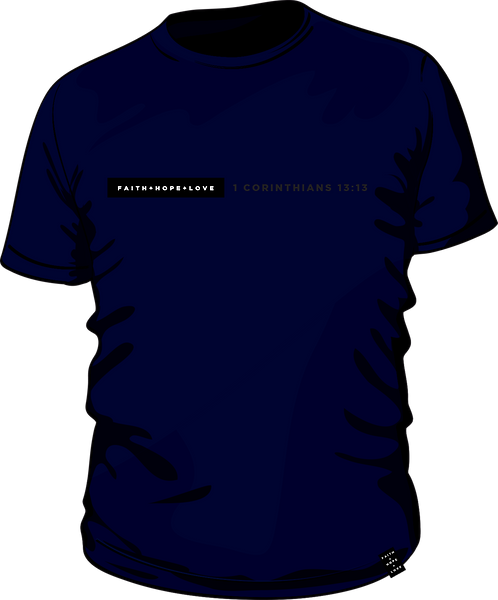 1 Corinthians 13:13 - Men's T-Shirt - Navy